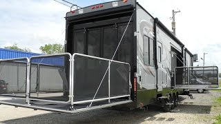 getlinkyoutube.com-2015 CYCLONE THOR 4200 TOY HAULER FIFTH WHEEL RV RAMP DOOR GARAGE TWO BATH BATHROOM HEARTLAND i94RV