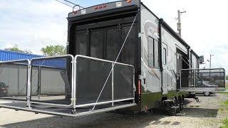 2015 CYCLONE THOR 4200 TOY HAULER FIFTH WHEEL RV RAMP DOOR GARAGE TWO BATH BATHROOM HEARTLAND i94RV