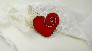 getlinkyoutube.com-How To Make A Decorative Heart With Zipper - DIY Crafts Tutorial - Guidecentral
