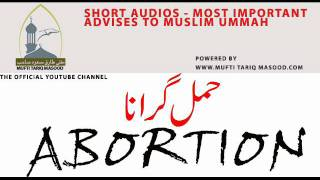 getlinkyoutube.com-Abortion - Mufti Tariq Masood