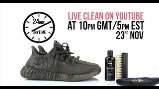 getlinkyoutube.com-Watch Live: Crep Protect cure Cleaning Yeezy Boost 350 V2 red - extreme test