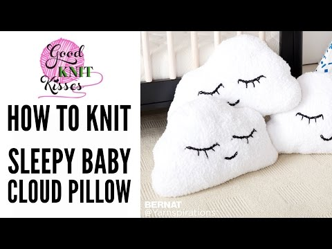 How to Knit Head in the Clouds Knit Pillow | Sleepy Cloud Emoji Pillow