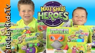 TMNT Half-Shell Hero Vehicles Toy Open + Review Part 2 by HobbyKidsTV