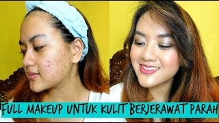 getlinkyoutube.com-Tutorial Full Makeup untuk Jerawat Parah - Alifah Ratu Saelynda (ft. Wardah, La Tulipe, Maybelline)