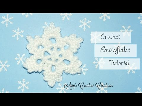 Crochet Snowflake Tutorial