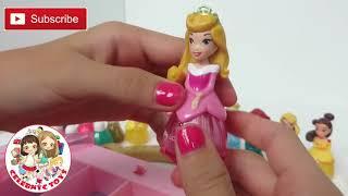 getlinkyoutube.com-Disney Princess Makeup Set Little Kingdom Collection Sparkle Nail Polish Hair Mascara Lip Gloss