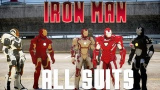 getlinkyoutube.com-ALL IRON MAN SUITS (31 ARMORS) IN GTA IV