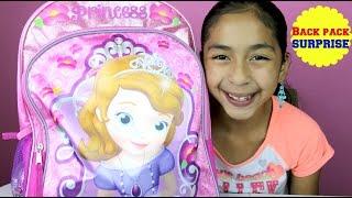 getlinkyoutube.com-Sofia The First Huge Surprise Backpack Hello Kitty Masha & the Bear Frozen LPS Ninaja Turtles |B2c