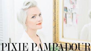 getlinkyoutube.com-Pompadour Hair Tutorial for Pixies