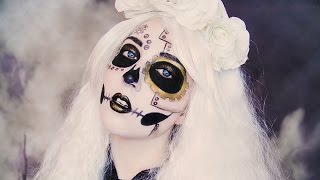 getlinkyoutube.com-Steampunk Skeleton MAKEUP TUTORIAL