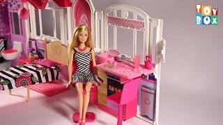 getlinkyoutube.com-Barbie Glam Getaway House unboxing
