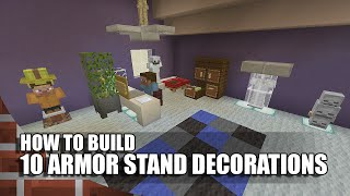 getlinkyoutube.com-10 Armor Stand Builds/Decorations In Minecraft!