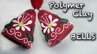 getlinkyoutube.com-How to make an easy Christmas decorations. Polymer clay bell tutorial