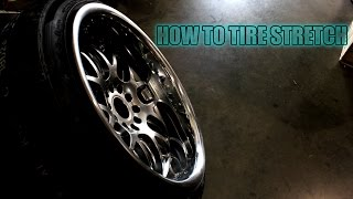 getlinkyoutube.com-Stretching Tires 235/40R18 on 18x10.5 JDM Hella Flush Stanced