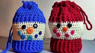 getlinkyoutube.com-Muñeco de Nieve a Crochet!!! Bolsa Morralito