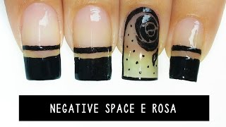 getlinkyoutube.com-Negative space Rosas Unhas meia calça-black sheer