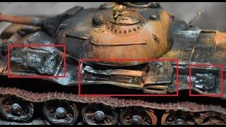 "getlinkyoutube.com-A ""burned, destroyed & rusting"" tank diorama build 1/35 scale"