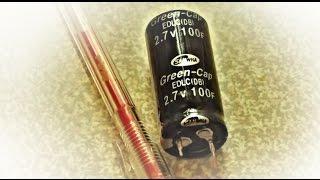 ♣ Зарядка конденсатора от солнечной батареи. Ионистор. Часть #3 ♣