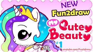 How to Draw - Easy, Super Cute Princess Celestia Chibi - Fun2draw My Cutey Beauty #1