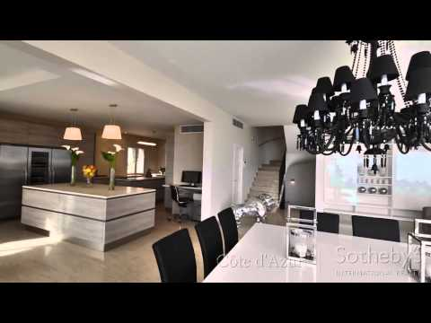 Luxury Villa Overlooking Eze sur Mer / Vente villa moderne Eze sur Mer