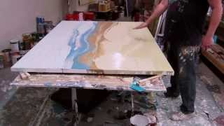 getlinkyoutube.com-Artist Paul LaFlam: Creation of Large-Scale One-Shot Expressionist Paintings