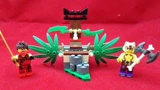 getlinkyoutube.com-레고 닌자고 정글트랩 카이 vs 크라이트 원소 토너먼트 전투 Lego 70752 Jungle Trap 조립과 스톱모션