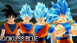 getlinkyoutube.com-Goku Super Saiyan God Transformations | DBZ Budokai Tenkaichi 3 (MOD)
