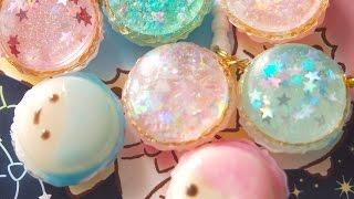getlinkyoutube.com-UVレジン キキ&ララのきらきらマカロン Little Twin Stars( Kiki & Lala) Resin Macaron