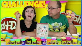Play-Doh Christmas Challenge Rudolph and Sleigh Build Family Fun