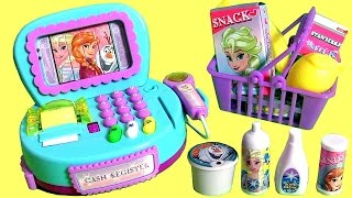 getlinkyoutube.com-NEW Disney Frozen Cash Register Toy with Lights n' Sounds & Surprise Cashier Toys for Girls 。◕‿◕。
