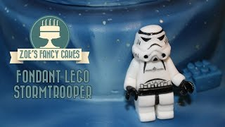 getlinkyoutube.com-Fondant lego Stormtrooper Star Wars birthday cake topper