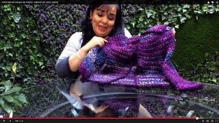 getlinkyoutube.com-MANGAS TEJIDAS PARA SACO CLÁSICO - Crochet fácil  y rápido - Tejiendo con LAURA CEPEDA