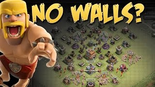 getlinkyoutube.com-WTF MY WALLS | Clash of Clans | Clash without walls