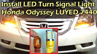 getlinkyoutube.com-Install LED Turn Signal Light Honda Odyssey LUYED 7440