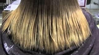 髪をグラデーションカラーブルーグレーアッシュのやり方