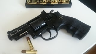 "getlinkyoutube.com-[Airsoft] - ASG Dan Wesson 2.5"" cal. 6mm Revolver, Black"