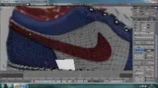 getlinkyoutube.com-Speed Modeling Nike Shoes In Blender 2.61