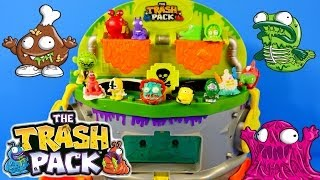 getlinkyoutube.com-Trash Pack Scum Drum Garbage Game Play Doh Spongebob Cars Spiderman Power Rangers