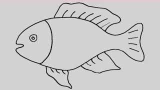 getlinkyoutube.com-How to draw a fish. Animation and entertainment for kids