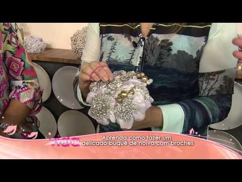 Aprenda como fazer um delicado buquê de noiva com broches