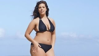 getlinkyoutube.com-Plus-Sized Model Ashley Graham Rocks Tiny Bikini in 'Sports Illustrated' Swimsuit Ad