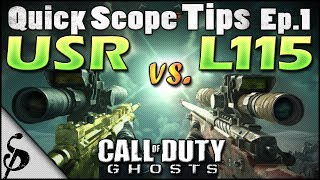 getlinkyoutube.com-Call of Duty Ghosts Quick Scope Tips - Ep1 - USR vs L115 - Best Bolt-Action Sniper for Quickscoping? + Stats, Chrome Lined & Reload Cancel