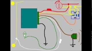 getlinkyoutube.com-Ciurso De Alarmas Para Automovil, Lección 7a, como se conecta una alarma para auto