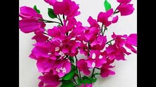 getlinkyoutube.com-Paper Flowers Bougainvillea (Flower # 72)