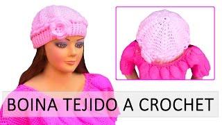getlinkyoutube.com-Boina tejido a crochet para señoras, señoritas ó niñas