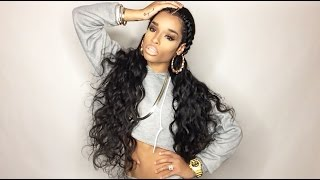 "getlinkyoutube.com-Star Style (Aliexpress) Brazilian Body Wave 4x30 + 18"" Lace Closure"