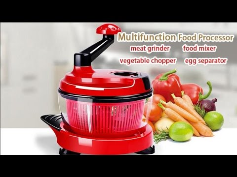 KCASA KC-MFP1 Multifunction Food Processor Kitchen Manual Food Chopper Mixer Salad Maker