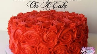 How To Pipe Rosettes On A Cake