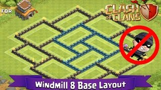 getlinkyoutube.com-Clash Of Clans: TH8 | BEST Farming Base Layout - Windmill 8