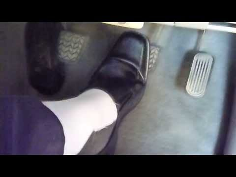 Pedal Pumping Black leather shoes & White Socks (Dress Shoes,Loafers)